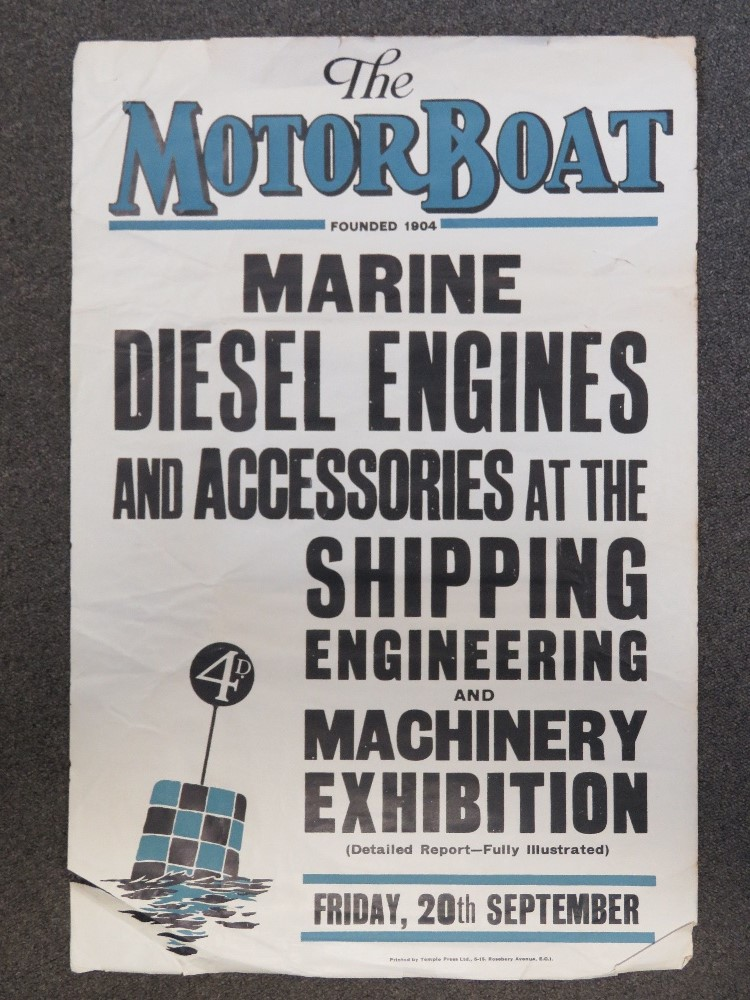 Lot 72 - The Motor Boat, an advertising poster fo