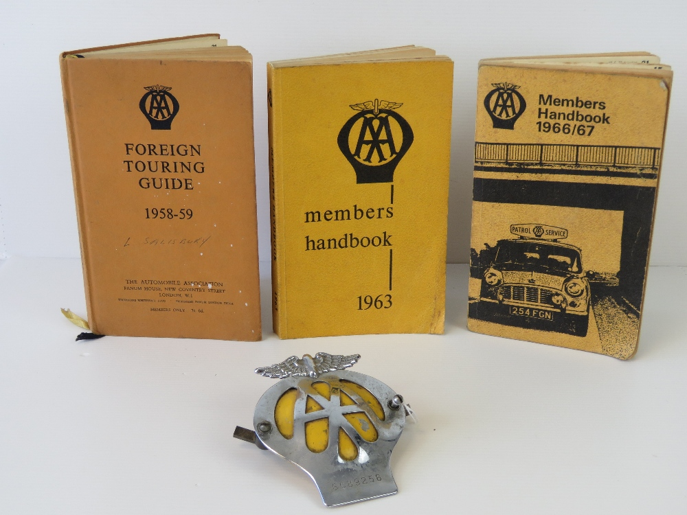 Lot 8 - Two copies of the AA Members Handbooks t