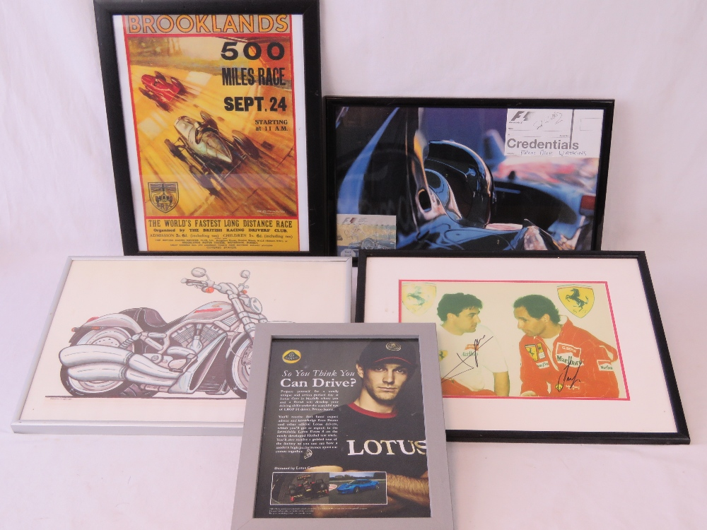 Lot 40 - A quantity of F1 and motorsport related