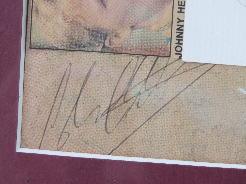 Lot 45 - A signed montage featuring autographs fo