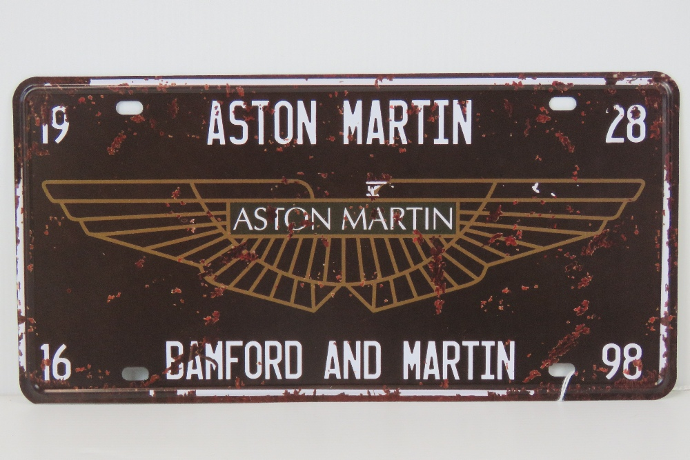 Lot 13 - A contemporary metal Aston Martin sign,
