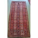 SCHMALER BESCHIR GEBETSTEPPICH / prayer rug, wohl 2. H. 19. Jh., Turkmenistan / Ersari-Beschir (