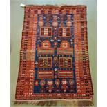SCHIRWAN SAF / SCHIRWAN-TAKHTE / TACHTE-SCHIRWAN / FAMILIENGEBETSTEPPICH / praying rug, wohl 2. H.