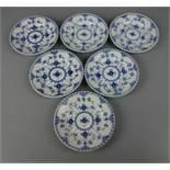 6 BROTTELLER / DESSERT - TELLER / 6 plates, Porzellan, Manufaktur Royal Copenhagen, Dänemark,