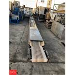 "32' Length Concave Feed Conveyor, 14"" Width, with Conveyor Drive **SUBJECT TO BULK BIDDING**"