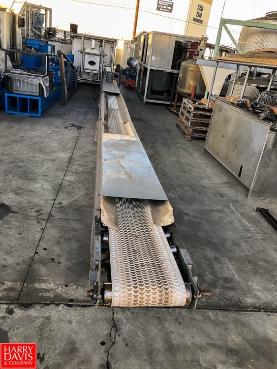 "Lot 6 - 32' Length Concave Feed Conveyor, 14"" Width, with Conveyor Drive **SUBJECT TO BULK BIDDING**"