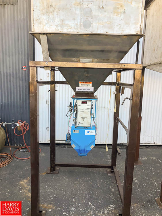 Lot 2 - Taylor TE-100 Electronic Bagging Scale. Fill range = 20-125 lbs. Currently Setup for Filling 50