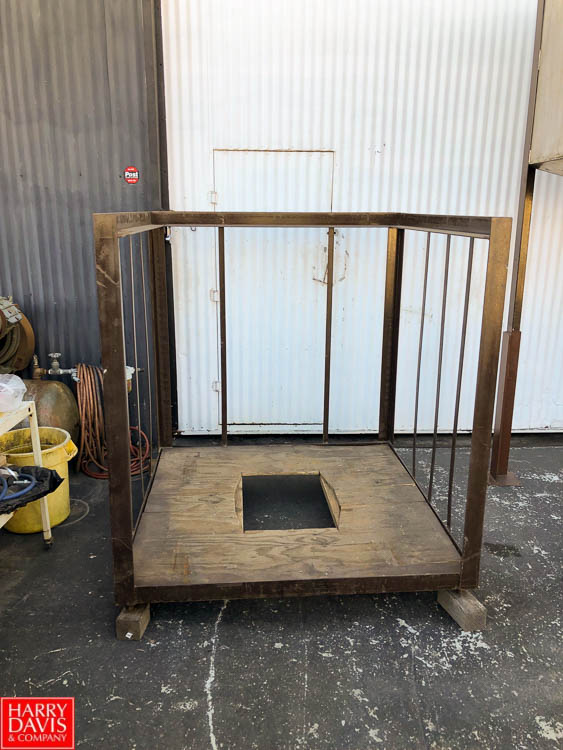 """54"""" Square Bag Holding Cage and Bag Dumping Station, 52"""" Discharge Height **SUBJECT TO BULK"""