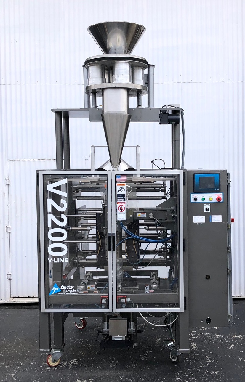 Lot 9 - Taylor V2200 Vertical Form, Fill & Seal Line Model V2200P, S/N 163, with (5) Formers for 1, 3, 5 and