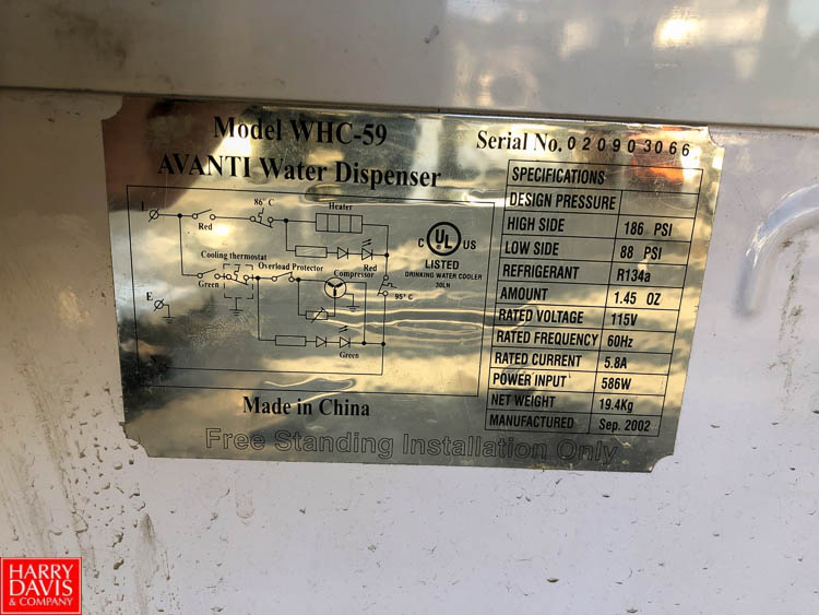 Avanti Hot and Cold Water Dispenser Model WHC-59 - Image 2 of 2