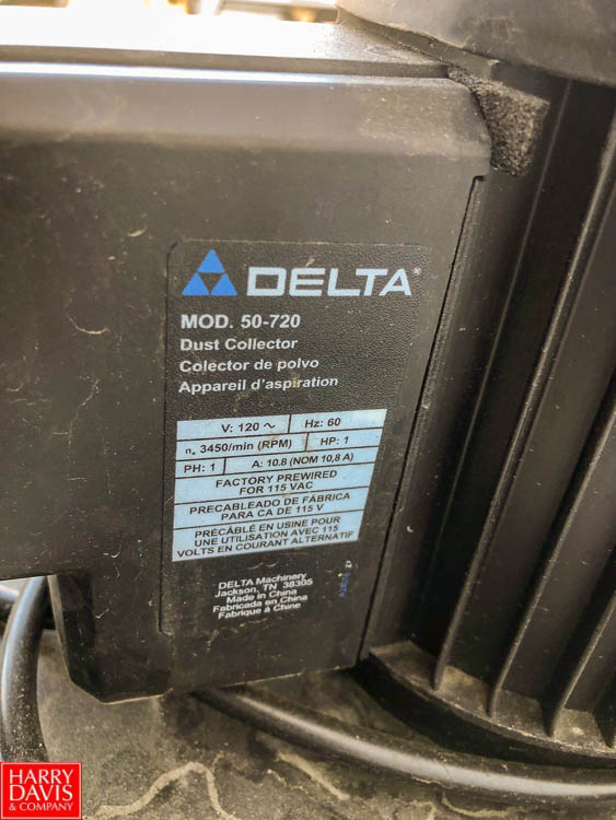 Product Cleaner with (2) Delta 50-720 Dust Collectors **SUBJECT TO BULK BIDDING** - Image 5 of 9