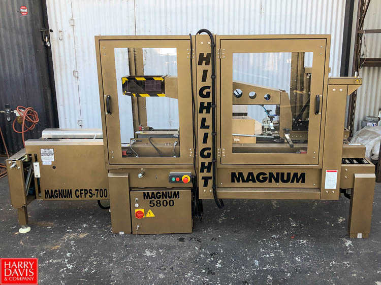 Magnum 700 Case Former and Magnum 5800 Top and Bottom Case Sealer **SUBJECT TO BULK BIDDING**