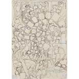 Hermann Nitsch (Wien 1938 geb.) Ohne Titel Mischtechnik auf Papier 30 x 21,5 cm 1979 rechts unten