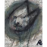 Arnulf Rainer (Baden 1929 geb.) Van Gogh als Schauspieler (aus der van-Gogh-Serie) Öl auf Papier auf