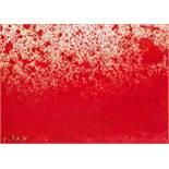 Hermann Nitsch (Wien 1938 geb.) Ohne Titel Mischtechnik auf Papier auf Leinwand 50,5 x 70 cm 1986