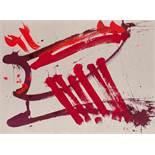 Markus Prachensky (Innsbruck 1932 - 2011 Wien) Farnesina Dixie Acryl auf Bütten 58 x 80 cm 2006