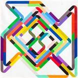 Siggi Hofer (Brunico 1970 geb.) Ohne Titel (Jahreszahlenbild) Ölkreide und Bleistift auf Papier
