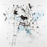 Hans Staudacher * (St. Urban 1923 geb.) Flecken im Raum Öl auf Leinwand 150 x 150 cm 1984/1988 unten