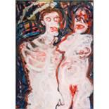Adolf Frohner (Groß-Inzersdorf 1934 - 2007 Wien) Adam und Eva Öl auf Leinwand 110 x 80 cm 1993 (?)