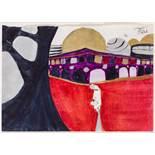 Franz West (Wien 1947 - 2012 Wien) Ohne Titel Mischtechnik auf Papier 14,5 x 20,8 cm 1972 rechts