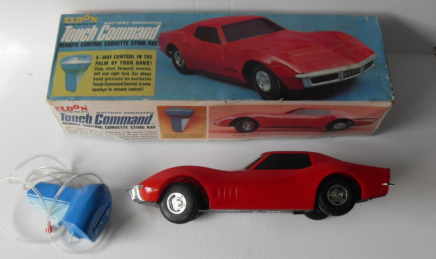 Lot 166 A Boxed Eldon Battery Operated Touch Command Remote Control Corvette Stingray Car In
