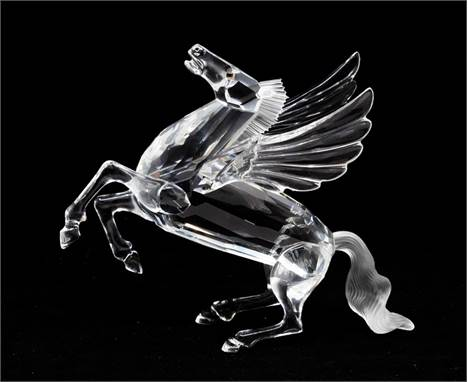 Swarovski Collections 1998 edition of Pegasus with box and certificates