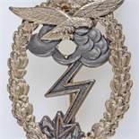 Kampfabzeichen III. Reich Erdkampfabzeichen der Luftwaffe 1. Stufe ohne Einsatzzahl, gestiftet am