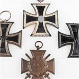 Kampfabzeichen I. und II. Weltkrieg 1 x Eisernes Kreuz 1939 II. Klasse, Trageöse mit schwarz-weiß-