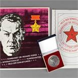 """Memorabilia zu Dr. Richard Sorge/MfS 1 x Gedenkmedaille """"Deutscher Kommunist und sowjetischer"""