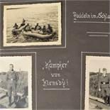 """Fotoalbum """"Meine Dienstzeit"""" III. Reich mit insg. ca. 100 eingebrachten Fotos aus dem"""