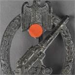 Kampfabzeichen III. Reich Heeres-Flakabzeichen, Flak im Eichenlaub unter Adler mit Swastika, rv.