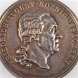 Medaille des Militär-St.Heinrichs-Ordens Sachsen Stufe Silber, av. Friedrich August Koenig von