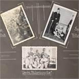 """Fotoalbum """"Meine Dienstzeit"""" III. Reich Einband mit plastischer Applikation Luftwaffen-Adler mit"""
