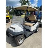 CLUB CAR 4 SEAT GOLF CART, FOLD DOWN BED, NEWER TIRES, BATTERY POWERED, RUNS AND OPERATES