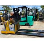 YALE MPE080 ELECTRIC PALLET JACK, 8,000 LB CAPACITY, RUNS AND OPERATES