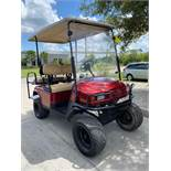 2012 EZ-GO ELECTRIC GOLF CART, BUILT IN BATTERY CHARGER, 4-SEATER, RUNS AND DRIVES