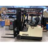 """CROWN ELECTRIC FORKLIFT, 3,000 LB CAPACITY, 190"""" HEIGHT CAPACITY, TILT, SIDE SHIFT, 36V, RUNS AND OP"""