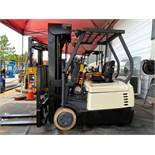 """CROWN SC4500 SERIES ELECTRIC FORKLIFT, QUAD STAGE MAST, 240"""" HEIGHT CAPACITY, 36V, MODEL SC4520-35,"""