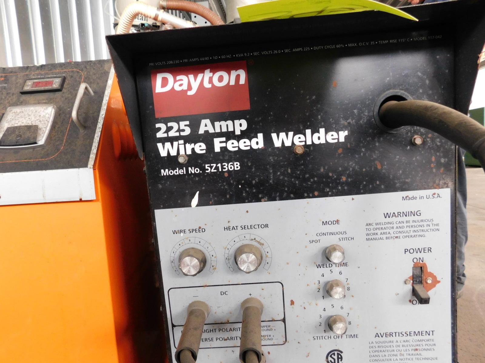 DAYTON 225 AMP WIRE FEED WELDER, MODEL 5Z136B. LOADING PROVIDED BY ...