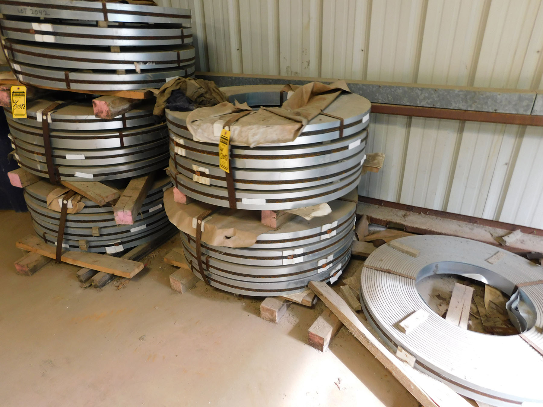 Lot 2042 - (24) ROLLS OF GALVANIZED STEEL PIPING MATERIAL