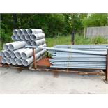 LOT OF GALVANIZED STEEL PIPE & RACK