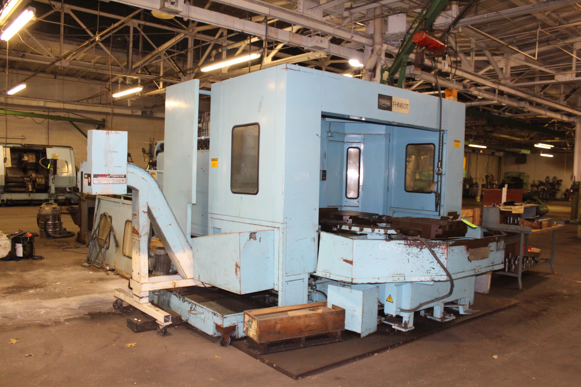 Lot 17 - Toyoda FHN60T Twin Pallet CNC Horizontal Machining Center