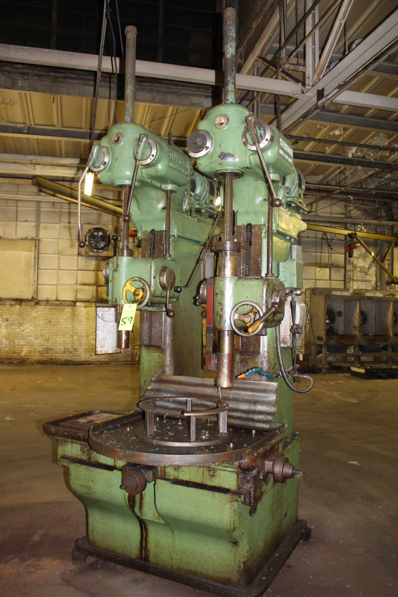 "Lot 59 - Cleerman 24"" 2-Spindle Heavy Duty Production Drill Press"
