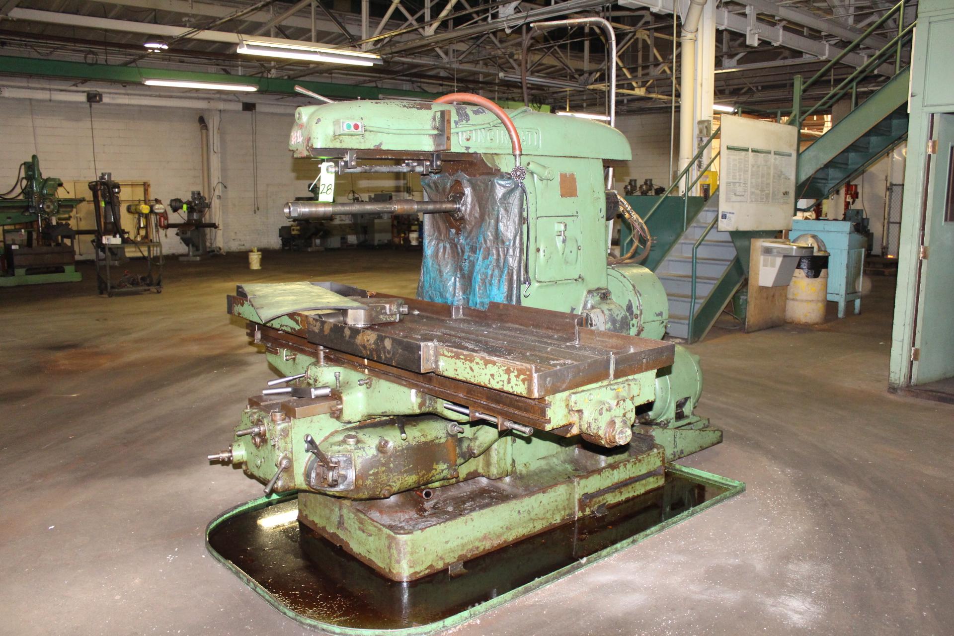 Lot 28 - Cincinnati No. 5 Plain Horizontal Milling Machine