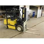 Yale Model GTP050JFNUAE086 Forklift, SN E177B18357U, 4,700 lb. Cap. LP, Solid Pneumatic Tires, 3-