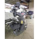"Clausing Kondia FV-1 Variable Speed Vertical Mill SN X-86, Servo Table Powerfeed, 9"" x 48"" Table,"