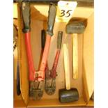 Bolt Cutters and Rubber Mallets, Lot Location 3204 Olympia Dr. A, Lafayette, IN 47909