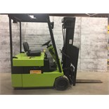 CLARK (MODEL #TM 15) 3,000LBS ELECTRIC 3 STAGE 3 WHEEL FORKLIFT - SERIAL #TM 247 0364-9368