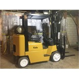 YALE (MODEL #GLC080LJNGAF096) 8,000LBS LP BOX CAR SPECIAL 3 STAGE FORKLIFT - SERIAL #C818V017932