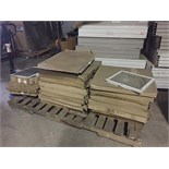 LOT OF WINDOW SCREENS ASSORTED SIZES